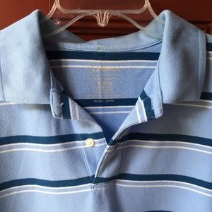 L.L. Bean Striped Polo Shirt, size M